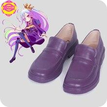 Аниме Нет игры нет жизни Широ косплей костюм обувь фиолетовый обувь ручной работы