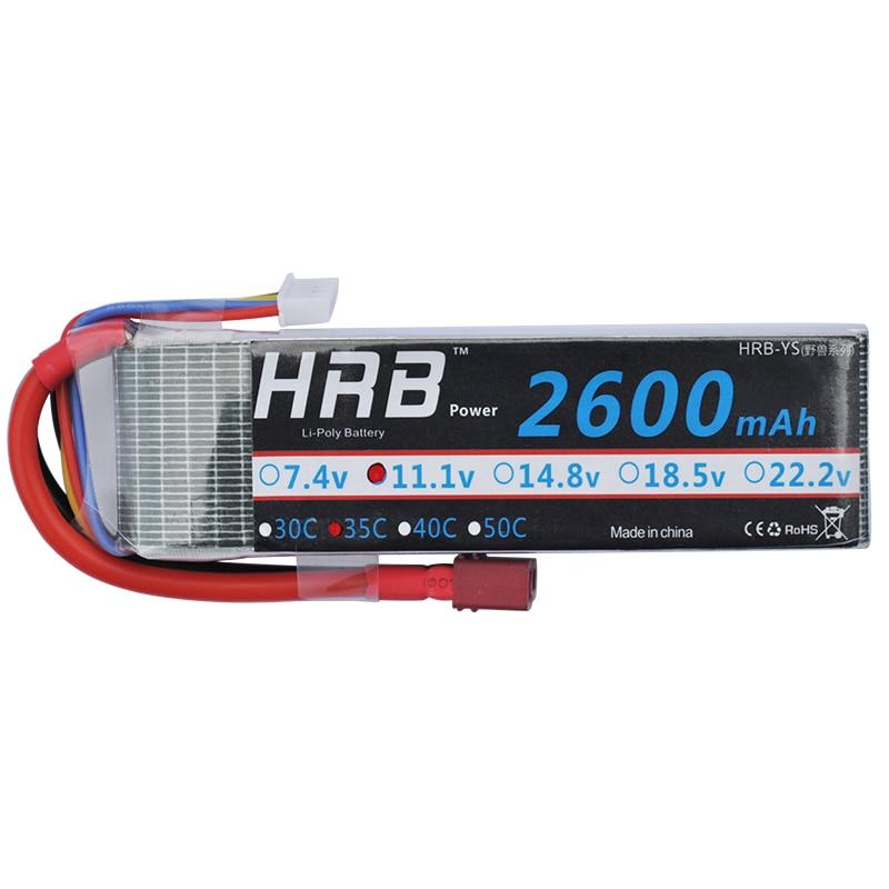 HRB 3S Lipo батарея 11,1 v 2600mAh 35C 70C для RC автомобилей лодки fpv дроны вертолет Квадрокоптер самолет AKKU Bateria