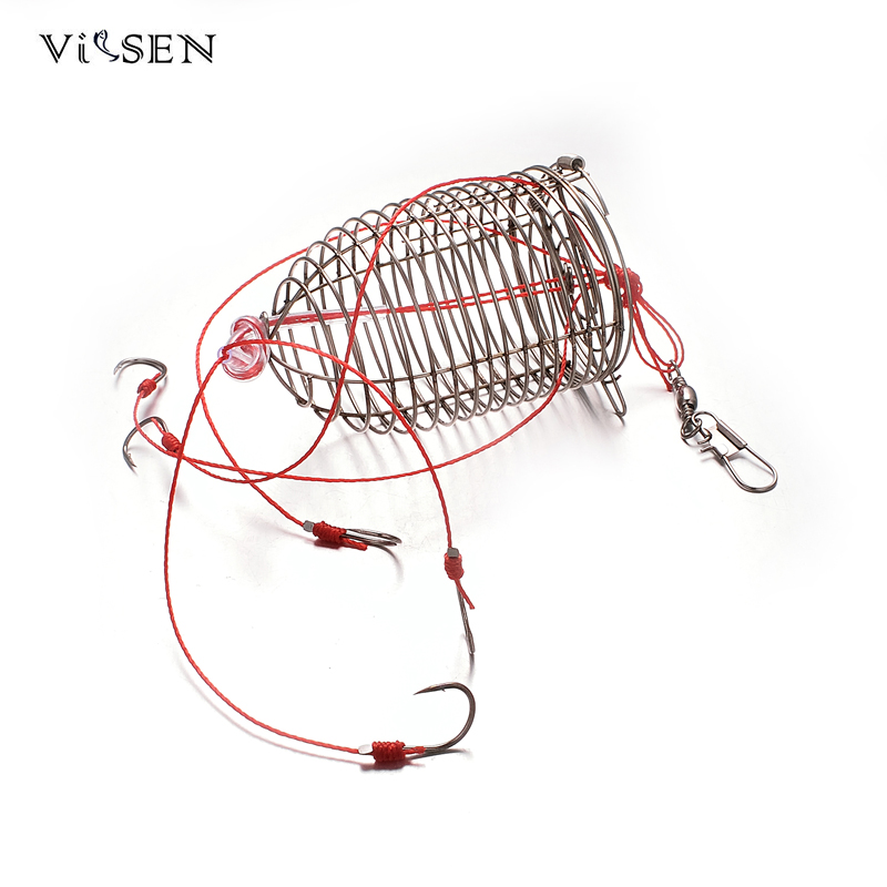 Feeder cage Stainless steel cage hooks Monster group of silver carp and Bighead carp
