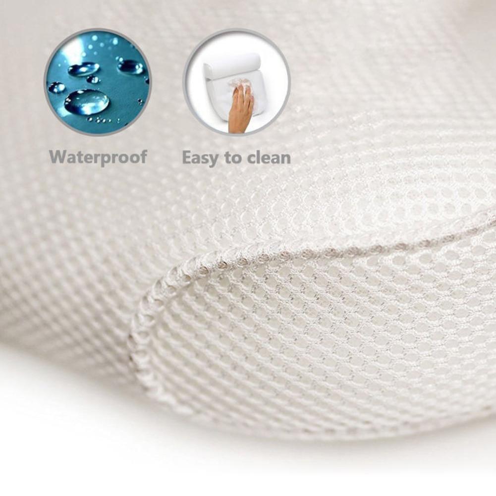 HTB1mAVwaE rK1Rjy0Fcq6zEvVXaP High Quality Bath Tub Spa Pillow Cushion Neck Back Support Foam Comfort Bathtub 6 Suction Cup