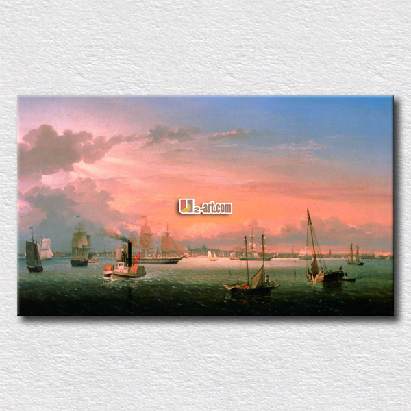 Red sky beautiful dream to go long journey wall pictures on the living room high quality arts for friends