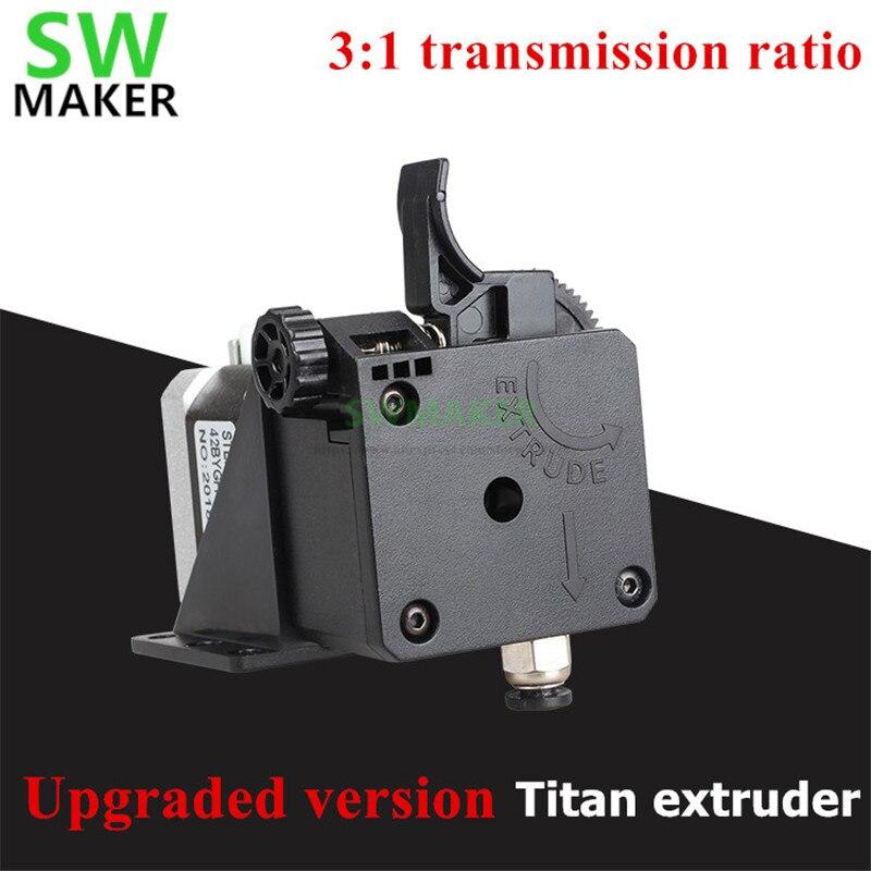 2019 versao atualizada titan aero impressora extrusora 3 1 relacao de transmissao para 1 75 milimetros