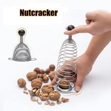 Novelty Stainless Steel Walnut Cracker Nutcracker Spring Sheller Opener Kitchen Tools Gadgets Utensil Helper Nut Cracker Opener