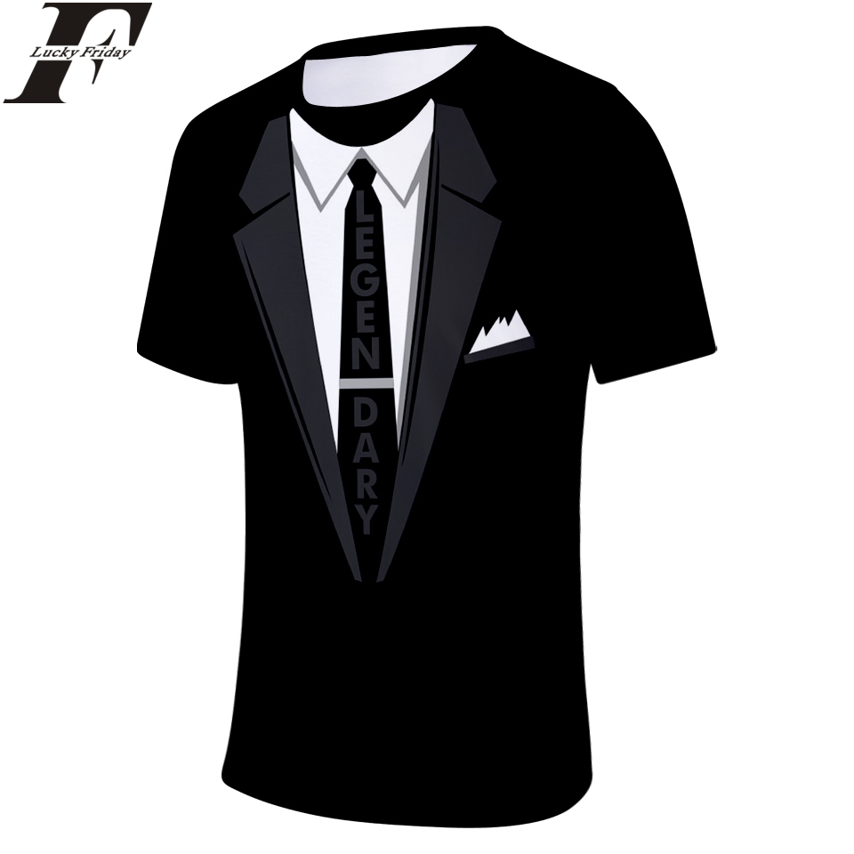 LUCKYFRIDAYF Suit T-shirts 3D Short Sleeve tshirt Men/Women 2018 Anime Summer T-shirts Print Casual Tops Tee Clothes Plus Size
