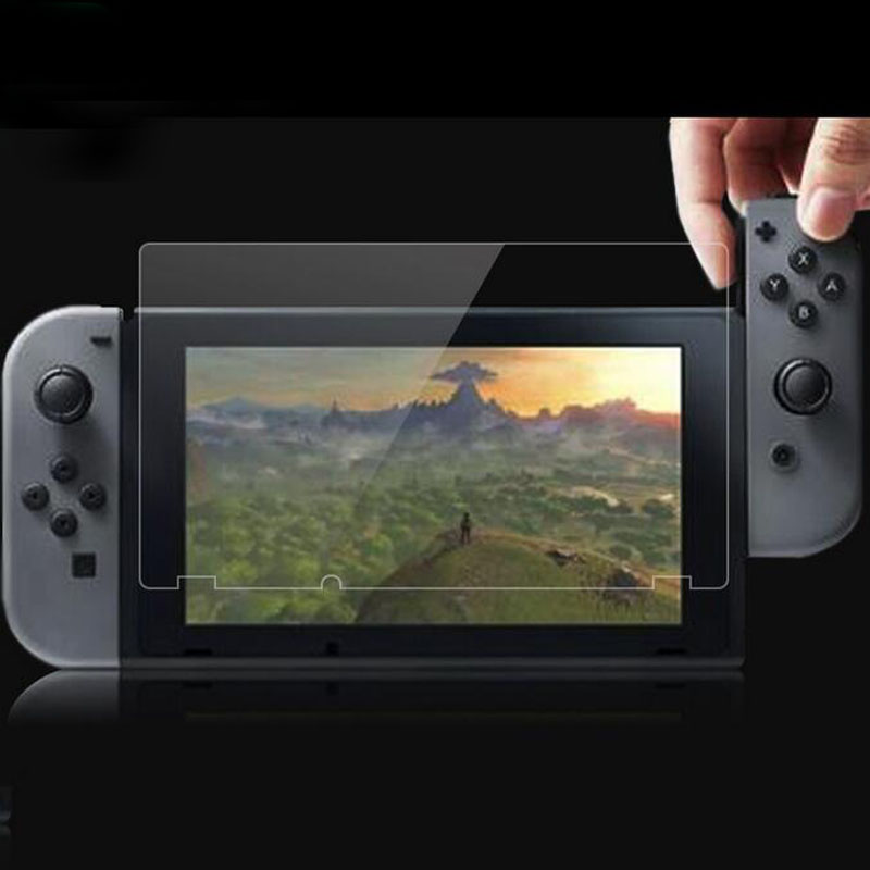 2Pcs/Lot(1Glass+1Wipe) For Nintendo Switch NS Console Protector Cover Skin Tempered Glass Screen Protective Film Surface Guard