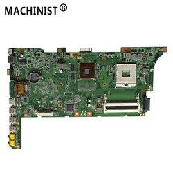 Original Para ASUS K73SJ K73SM K73SV K73SD A73S GT520M 1G REV 2.3 HM65 DDR3 X73S laptop motherboard 100% totalmente Testado
