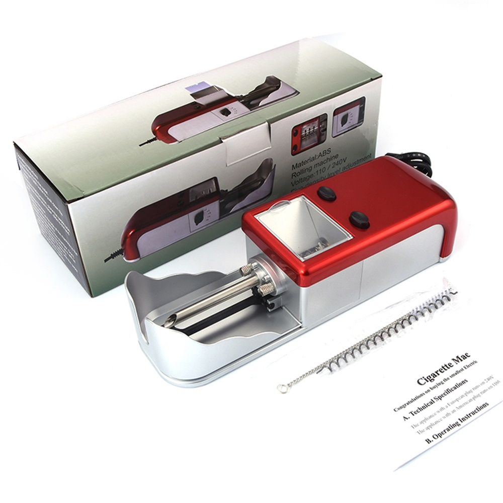 Automatic EU Electric Power 8MM Electric Cigarette Rolling 8mm Machine Tobacco Injector Maker Roller Random Color JL-003A