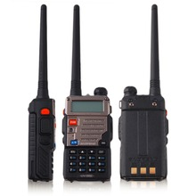 2016 Newest BF-UV-5RE Walkie Talkie 5W 128CH FM VOX DTMF Two-Way Radio Dual Band US Adapter