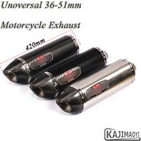 Universal 36 51mm Motorcycle Exhaust Escape For GSXR600 R6 FZ1N PCX125 Modified Motorbike Carbon Fiber Yoshimura Muffler Sticker
