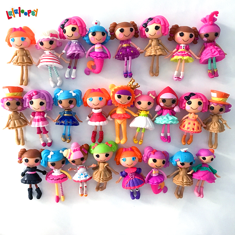 1pcs New mini 8CM Lalaloopsy Doll The Bulk Button Eyes Action Figure Children Toy Juguetes Brinquedos Kids Best Toy For Girl