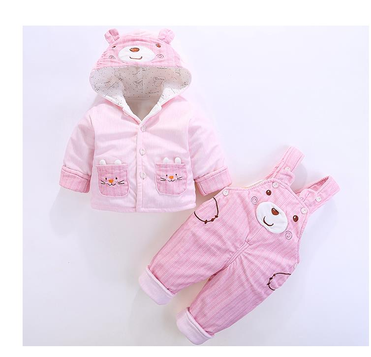 Baby spring and autumn cotton-padded suit 1