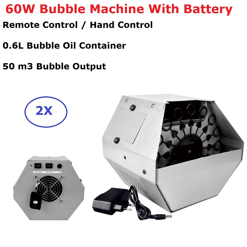 2 Units 60W Remote / Hand Control Bubble Machine Stage Lighting Wedding DJ Equipment Stage Effects Bubble Machines 100% New2 Units 60W Remote / Hand Control Bubble Machine Stage Lighting Wedding DJ Equipment Stage Effects Bubble Machines 100% New