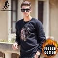 Pioneiro Acampamento de lã grossa hoodies homens roupas de Outono Inverno da marca de Alta qualidade Nova quente Casual masculino Camisola tigre 622181