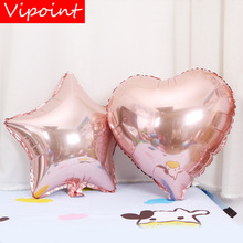 VIPOINT PARTY 18inch rose gold star love heart foil balloons wedding event christmas halloween festival birthday party HY-131