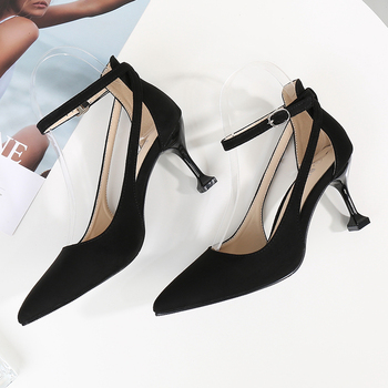 BBZAI New pattern Superior quality women shoes Amazing shoes 18cm High Heels shoes Waterproof 7CM Princess shoes 35-45 46 image