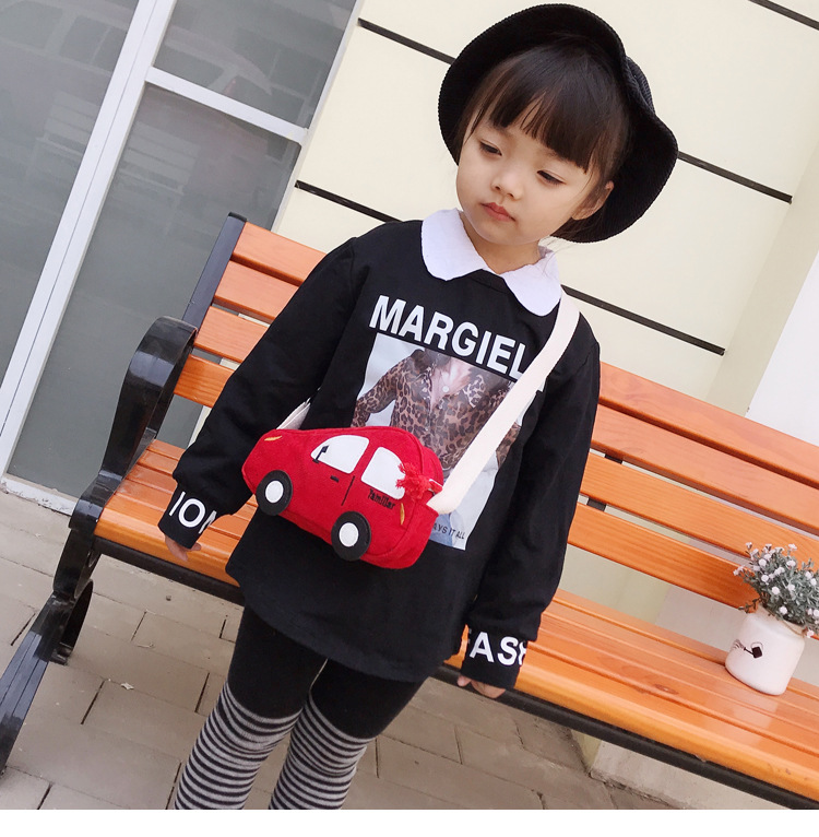 Litthing Baby Girl Cute 3D Car Bags Mini Shoulder for children girls boys School crossbody clutch bag Packet
