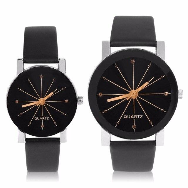 Women Quartz Watches Relogio Masculinos Fashion Dial Time Men Clock Leather Dres