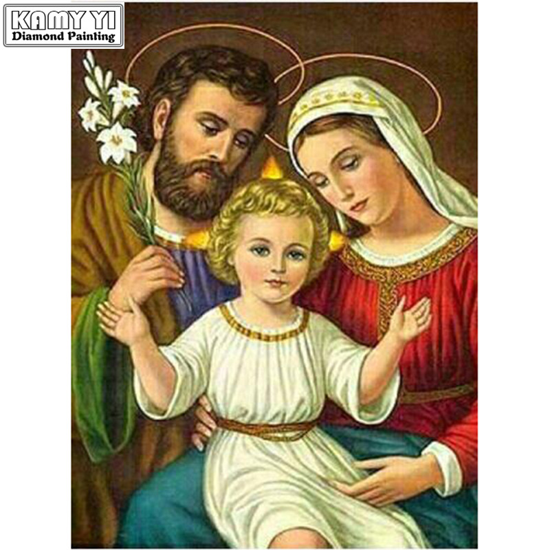 Купить diy алмазная картина вышивка крестом 5d религиозный святой семейный