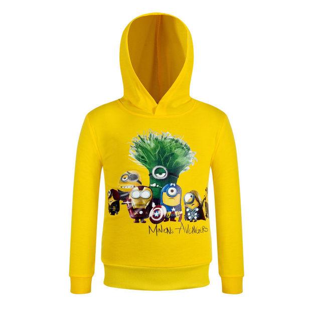 Suéteres de otoño Minions Hoodies Boy 3-10Y Ployester Algodón Chaqueta de La Manga Completa niños Sudadera Niños Ropa AH-1608-2