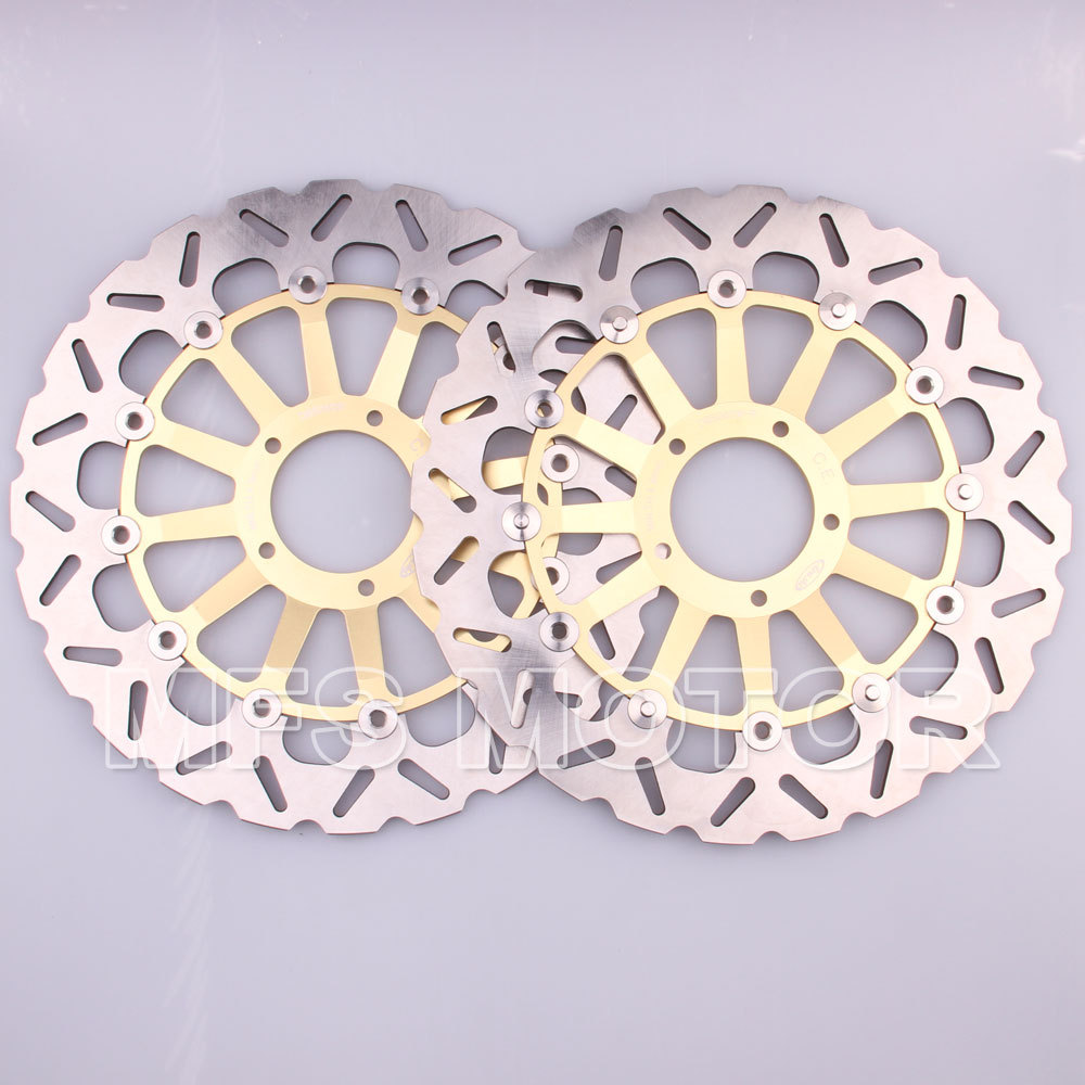 Motorcycle Part Front Brake Discs Rotor For Ducati 1098 1198 1199 S TRICOLORE 2007 2008 2009 2010 2011 2012 2013 2014 GOLD new brand motorcycle accessories gold front brake discs rotor for suzuki gsxr1000 2005 2006 2007 2008