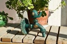 Декоративные краны на сельских животных сад Bibcock античная бронзовая улитка кран
