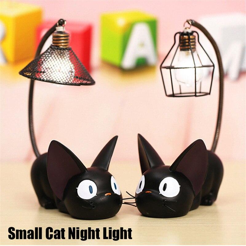 Маленький Ночной светильник с кошкой, Мультяшные украшения, коллекция, детский прикроватный столик для чтения, Ночной светильник, лампа Deocr,...