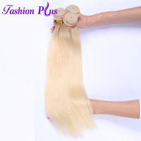 Fashion Plus Brazilian Blonde #613 Straight Remy Hair Brazilian Hair Platinum Bundles Extensions 12 26 inches 100% Human Hair
