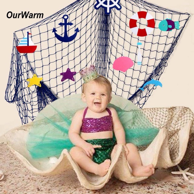 ourwarm fish net party decoration fit seashells ocean pirate beach