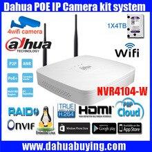 Смарт 1U DAHUA 4ch WI-FI P2P NVR с Оригинальный Английский Прошивки с dahua Логотип Последняя Модель NVR4104-W