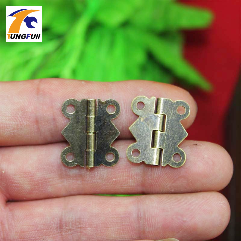 12pcs 20x17mm Mini Butterfly Hinges Jewelry Gift Wine Box Wood Dollhouse Door Hinge Cabinet Drawer Jewelry Box DIY Repair w/srew