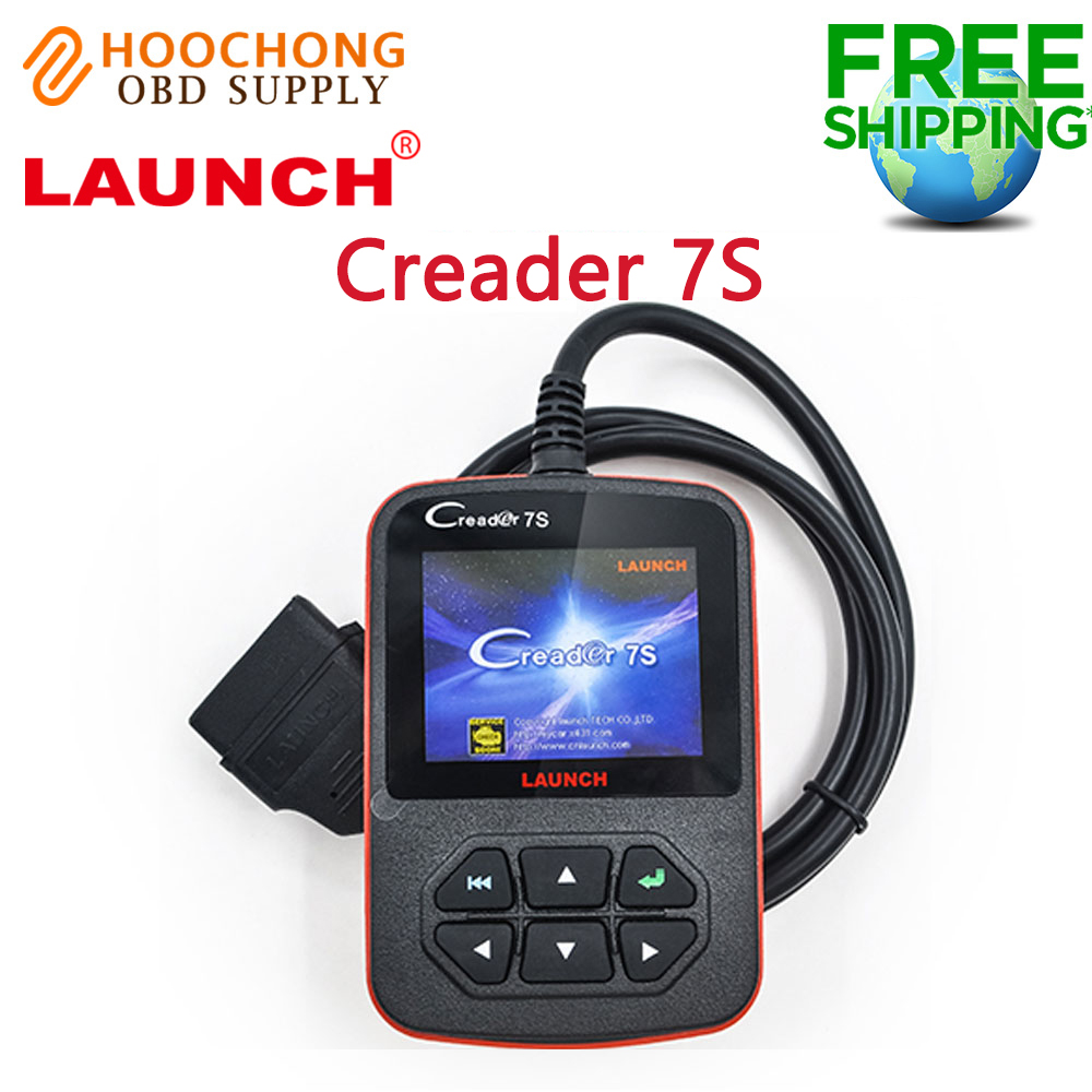 цены на Launch X431 Creader 7S OBD Code Reader with Oil Reset Function Creader 7 Plus Update Online