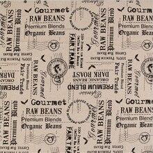 100×150 cm Retro buchstaben poststempels gedruckt baumwolle leinen Sackleinen für Nähen Textile Quilten Diy für kissen vorhang geldbörse
