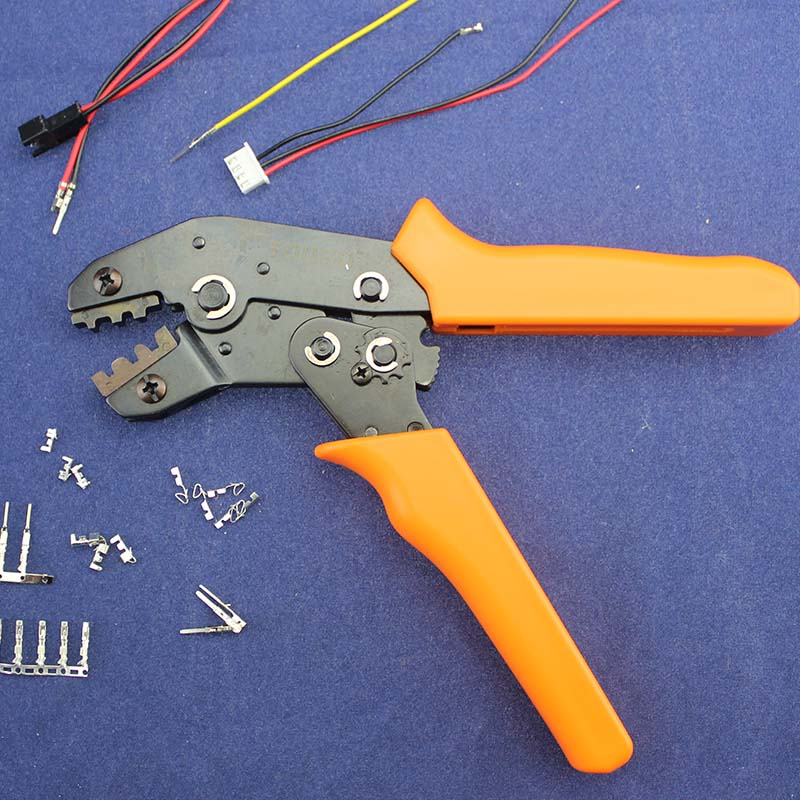 JRD Attrezzo di Piegatura Pinza Per Terminali della Spina Dupont KF2510 TERMINALE XH2.54 SM 2.54mm 3.96mm AWG28-22/JRD1 + 011 Lunghezza 200mm