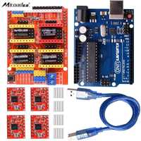Miroad CNC Shield Expansion Board V3 0 UNO R3 Board A4988 Stepper Motor Driver With Heatsink