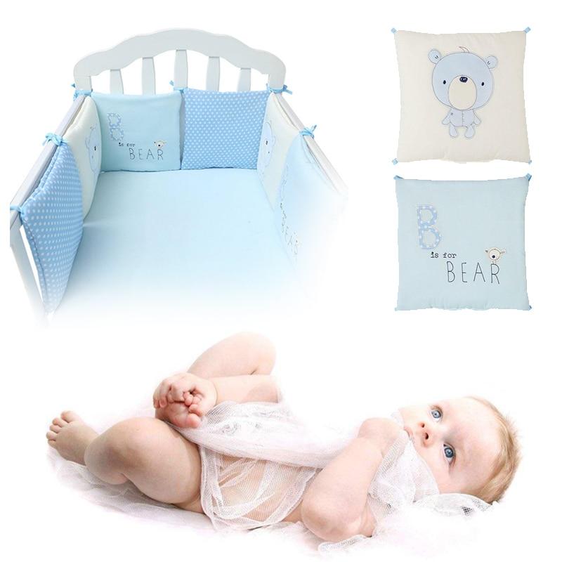 6 шт./компл. Удобная изящная одежда для младенца Хлопок бампер кровать протектор детские постельные принадлежности