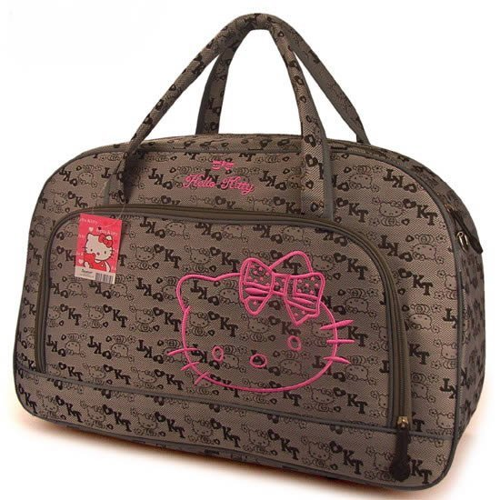 Free shipping 2015 Hot Selling Hello kitty Travelling bag Large Luggage bag Cartoon handbag Outdoor Travel bag Travelling duffle