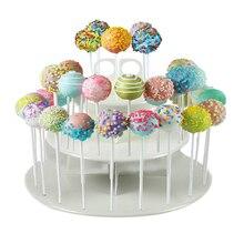 3 Tier 42 Holes Cake Stand Round Pop Lollipop Cupcake Display Stand Holder Wedding Birthday Party Events Dessert Decoration