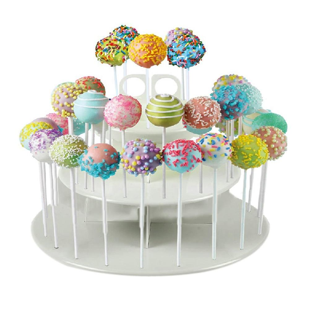 10x Square Wooden Lollipop Cake Pop Lolly Sticks Hobby Craft DIY Art