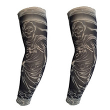 Outdoor sleeves for riding tattoos printed sunscreen outdoor personality fashion