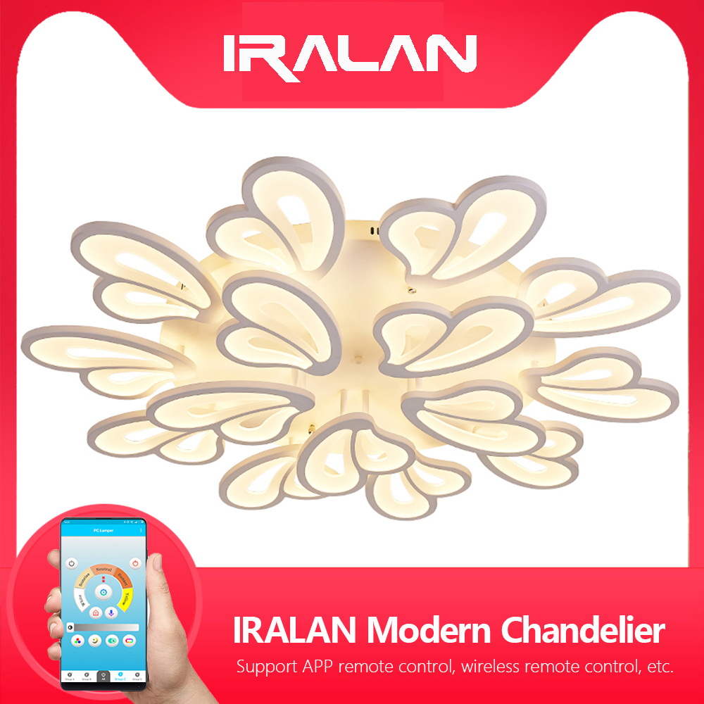 Modern Chandelier Led White Chandelier Lighting For Living Room Bedroom Dining Room Surface mounted kroonluchter