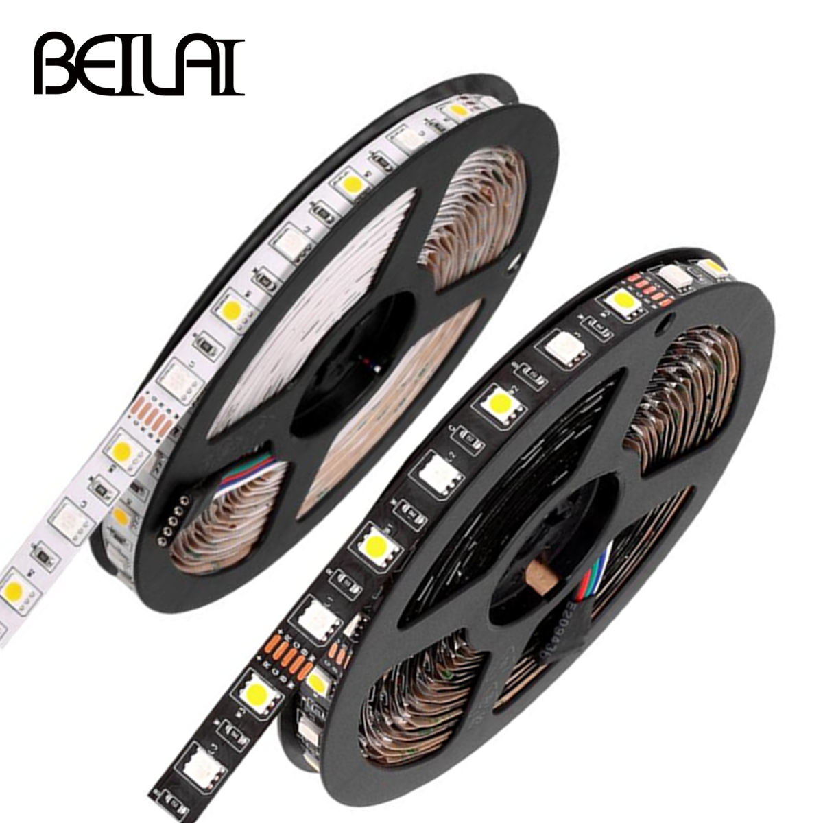 Beilai 5m Led Strip 5050 60led/m Dc12v Flexible Led Light Strip Rgb Warm Cool White Led Ruban Luces Led Tiras Lights & Lighting