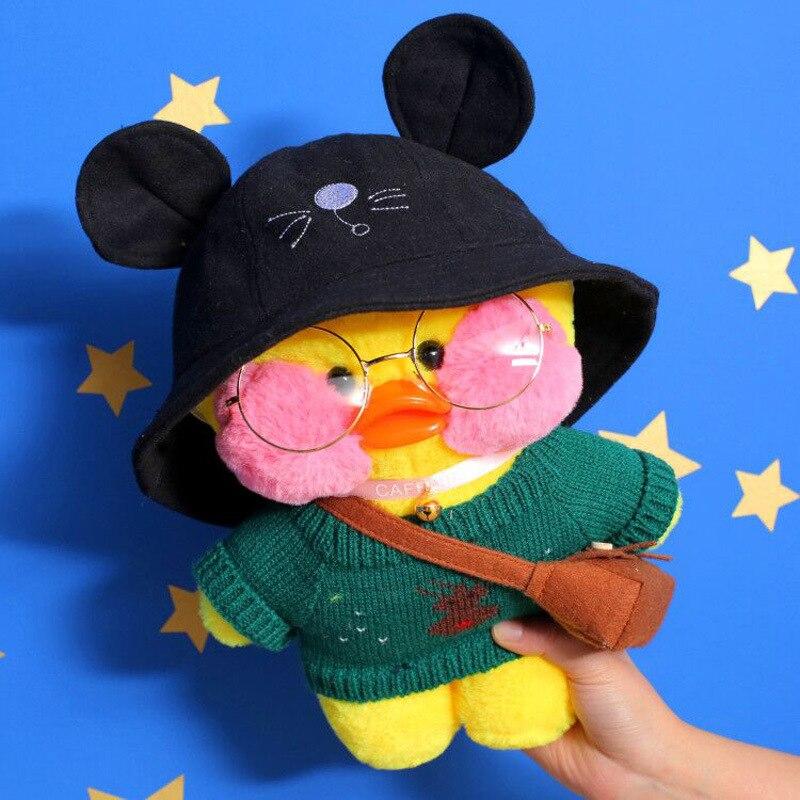 Novo pato kawaii brinquedo de pelúcia bonito animal pato amarelo macio cabelo boneca brinquedo presente aniversário natal crianças menina decoração