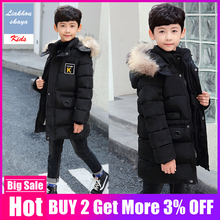 Children's Winter Jacket 2019 Boys Fur Coat Parkas Teenage 5 to 15 years Child O