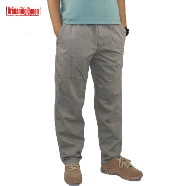 68667f6c Fashion Men's Cargo Pants Overall Straight Stretch Boys Classic Cotton  Light Casual Pants Men Slim Fit Chinos Trousers Big Size