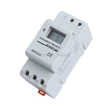 20A 250V AC Digital Programmable Time Switch Timer ATHC20A