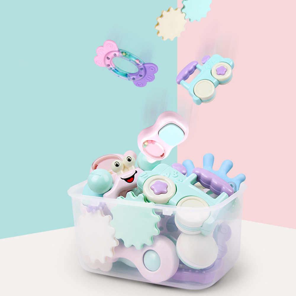 เด็กทารก Sensory Teether Rattles ของเล่นเด็กแรกเกิด Hand Shake Bell ของเล่นมือเขย่าเตียงพลาสติกสัตว์ของขวัญการศึกษา