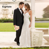 Eightale Mermaid Wedding Dresses 2019 Spaghetti Strap Lace Wedding Gowns Backless Bride Dress vestido de noiva boho