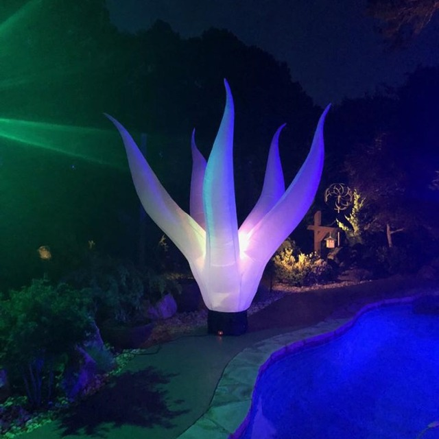 Sayok 2m/2.5m/3m Inflatable Seaweed Ground LED Decoration Inflatable Lighted Water Plant for Party Events Club