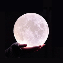 USB Charged 3D Moon Lamp Night Light Lun