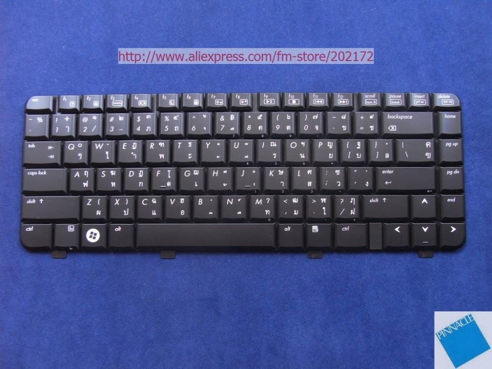 Brand New Black Notebook Keyboard 452236-281 For HP Pavilion DV2000 2500 series Thailand 100% compatiable us laptop keyboard without frame for hp for pavilion 15 p000 thailand ti 762529 281 9z n9hsq 703